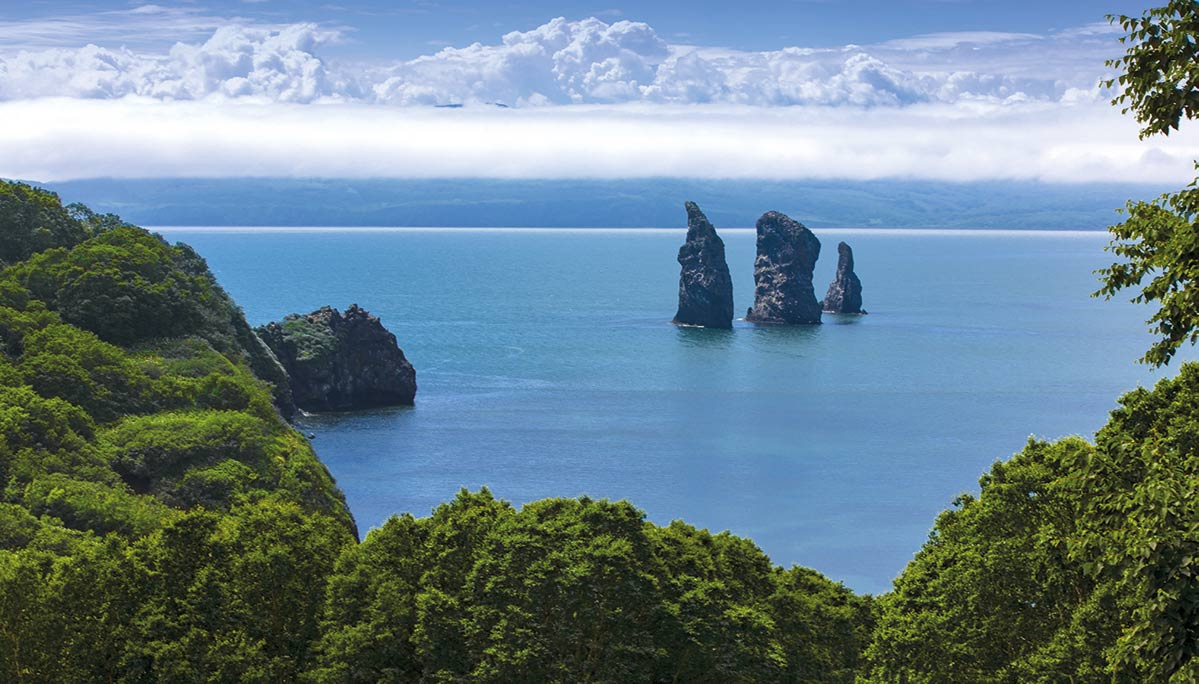 The mountains of the Kuril Islands
