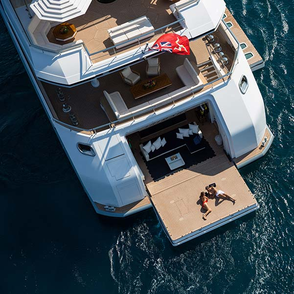 Behind the scenes on a superyacht shoot