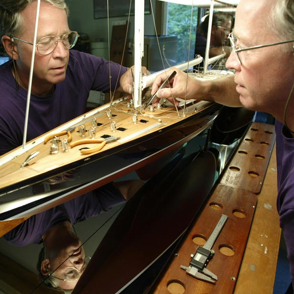 Behind the scenes with a master model yacht craftsman