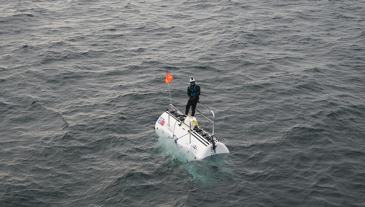 Scientists at sea